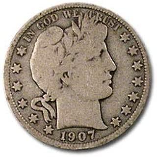 1907 S Barber Half Dollar VG Half Dollar Very Good