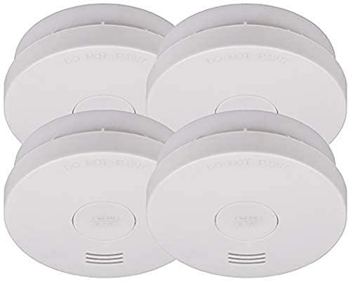 Brennenstuhl Rauchmelder SET, 4x RM L 3100 mit integrierter Batterie (10 Jahres Batterie, geprüft und zertifiziert nach VdS DIN EN 14604) weiß