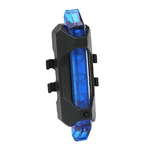 NiceJoy Bicicleta de luz Conjunto, Cola de la Bicicleta del USB LED de luz Trasera Impermeable Recargable Advertencia de Seguridad Trasera de la lámpara (Azul)