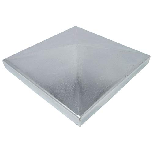 SO-TOOLS® Pfostenkappe Pyramide Stahl verzinkt Abdeckkappe für Pfosten 120 x 120 mm