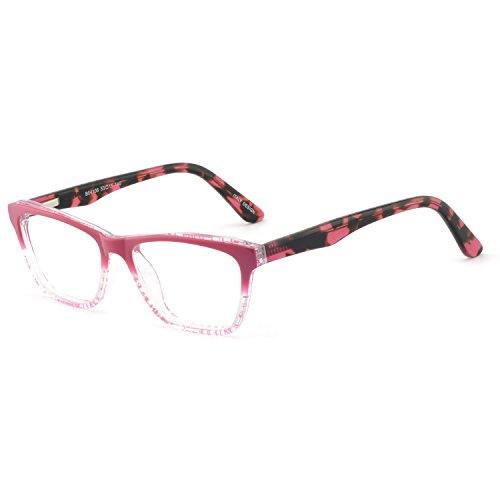 OCCI CHIARI Womens Rectangle Double Color Fashion Eyewear Frame Clear Lens(red, 53-15-140)