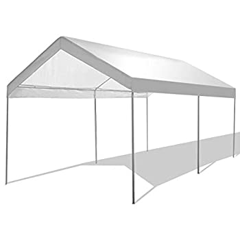 GYMAX Carport Car Canopy 10' x 20' Heavy Duty Garage Shelter for Car Boat Parking Waterproof Sun Proof Party Camping Tent