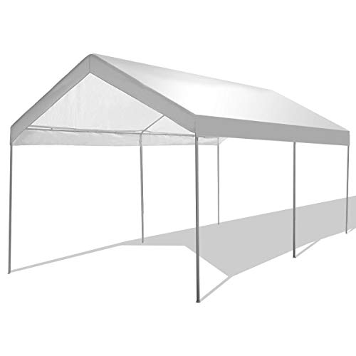 GYMAX Carport Car Canopy, 10' x 20' Heavy Duty Garage Shelter for Car Boat Parking, Waterproof Sun Proof Party Camping Tent