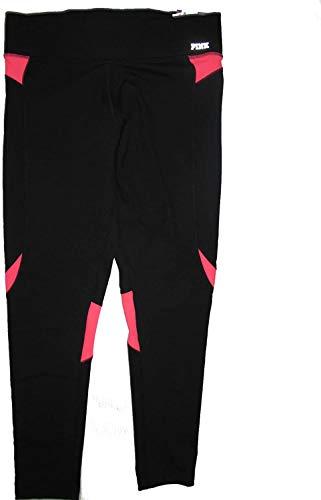 Victoria's Secret Pink Ultimate Yoga Legging Pant Large Black Hot Pink