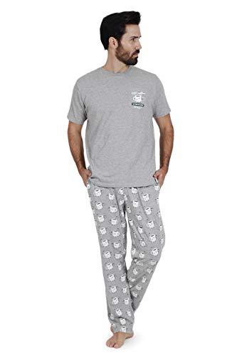 MR WONDERFUL Pijama Manga Corta Coffee para Hombre