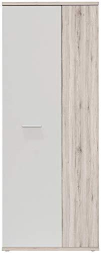 FORTE Net106 Schuhschrank, Holz, sandeiche + weiß, 68.90 x 34.79 x 179.1 cm