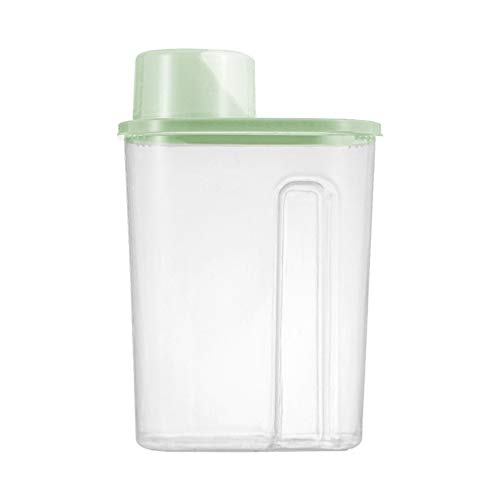Vorratsdosen Frischhaltedosen Lebensmittelbehälter Aufbewahrungsbehälter mit Deckel, BPA-frei, Hermetischer Vorratsbehälter für Lebensmittel Spaghetti, Kaffee, Mehl,Bohnen (L, Grün)