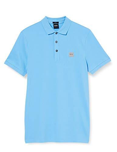 BOSS Mens Passenger Polo Shirt, Turquoise/Aqua (440), XXXL
