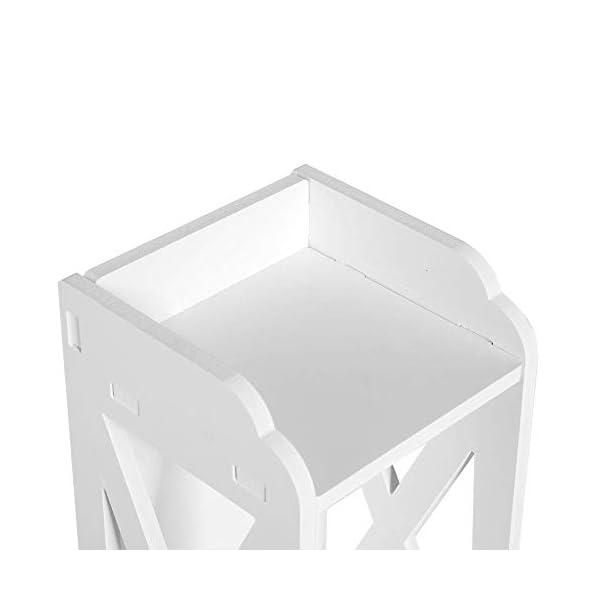 GOTOTP Gabinete de Almacenamiento de Baño Mueble Auxiliar Columna de Baño Blanco Organizador de Almacenamiento para el…