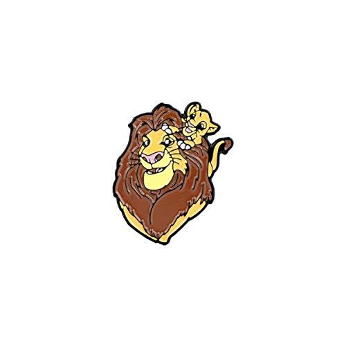 JiuErDP Il Re Leone Poco Spilla re Leone Simba Distintivo del Fumetto Pin dello Smalto Badge Spilla (2 Pezzi) Spille e Fermagli Gioiello
