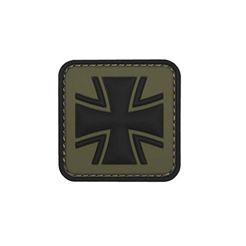 Copytec Oliv Balkenkreuz Patch 3D Rubber Bundeswehr Abzeichen Aufnäher Emblem Einheit Uniform Tactical Klett 5cm #23046