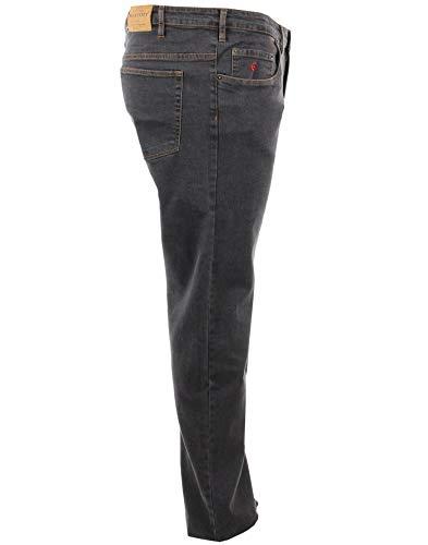 Maxfort Jeans Taglie Forti Uomo Oversize Big Size Plus Size (TG. 70 girovita 140 cm, Nero)