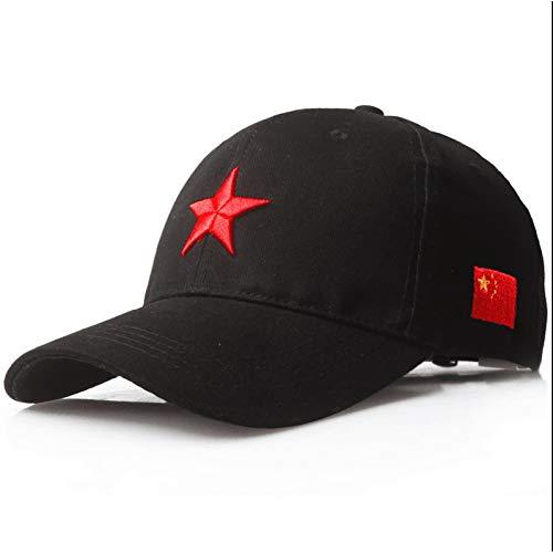 RQJOPE Baseball Kappe Baumwolle Red Star Baseball CapPentagramm Stickerei Freizeit HutModesport und Freizeitsonnenhut