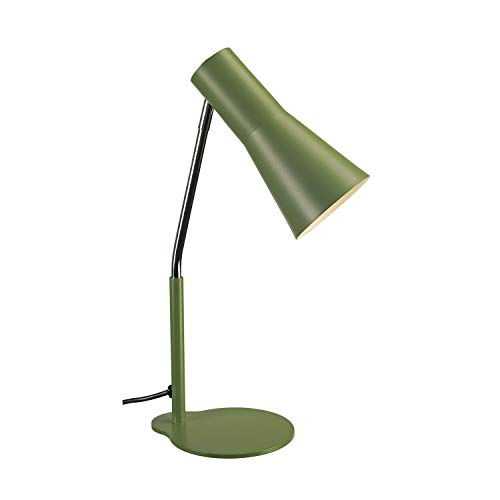 SLV Tischleuchte PHELIA / Innen-Beleuchtung für Wohnzimmer, Büro, Schlafzimmer, Lese-Lampe / GU10 35.0W grün