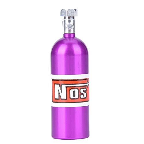 Woyisisi RC Car Lachgas Flasche, Mini NOS Lachgas Flasche Kanister f¨¹r 1/10 Traxxas RC Rock Crawler Axial Car Dekoration(FZ0008P Lila)