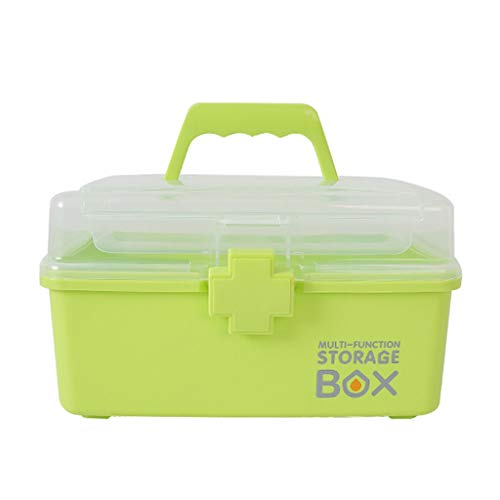 Jinxin-schmuckschatulle Kleine medizinische Kasten-Erste-Hilfe-Ausrüstung klären Haushalt tragbare Medizin-Kasten-Aufbewahrungsbox (Farbe : Grün)