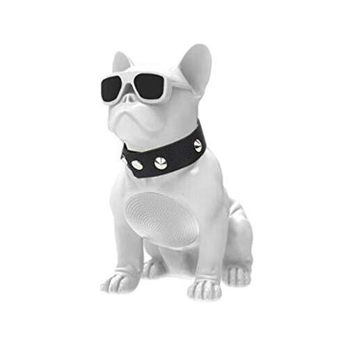 Drahtloser Bluetooth-Lautsprecher Bulldogge Bluetooth Lautsprecher Drinnen draußen Ultra-tragbar Stereo Spiel Musik Sprachansagen Unterstützt FM/AUX/TF-Karte (Weiß)