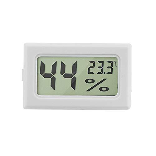 Urijk LCD Digital Hygrometer Thermometer, Hygrometer Innen Mini Digital Temperaturmesser für Gewächshaus/Autos/Zuhause/Büro/Keller Schrank (Weiß)