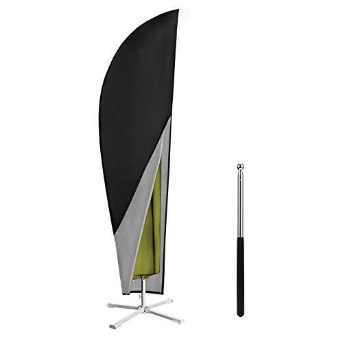 Awroutdoor 265 cm Sonnenschirm Schutzhülle mit Stab, Sonnenschirm Abdeckung 2 bis 4 M Große Sonnenschirm Schutzhülle, Wetterfeste, UV-Anti, Winddicht und Schneesicher