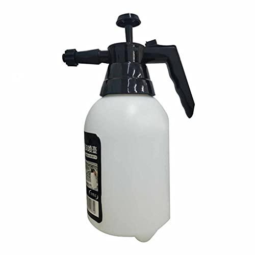 BLEUNUIT Regadera de Alta presión, Lata de espray espesante de Alta presión para regar Flores y aspersores de Lavado de Coches Blanco + Negro Rociador de riego de 1,8 L