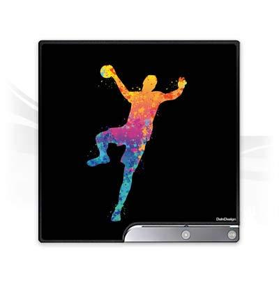 DeinDesign Skin kompatibel mit Sony Playstation 3 Slim CECH-2000-3000 Folie Sticker Handball Farbklecks Ball
