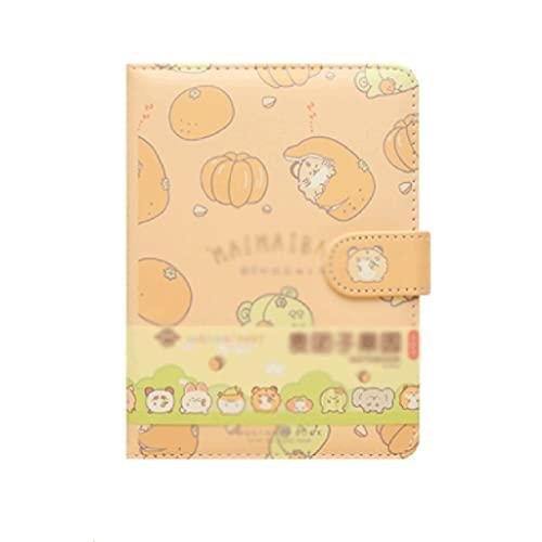 ZAZA Cuaderno Diario Cuaderno Portátil Lindo Diario De Frutas Página para Colorear Creativa Cuaderno con Hebilla Magnética Regalo (96 Páginas) Cuadernos para Mujeres (Color : B)