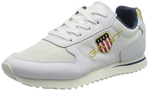 GANT Footwear Damen Beja Sneaker, br. wht./Off White, 38 EU