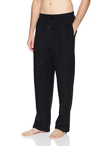 Amazon Essentials Men's Flannel Pajama Pant, Black, Medium