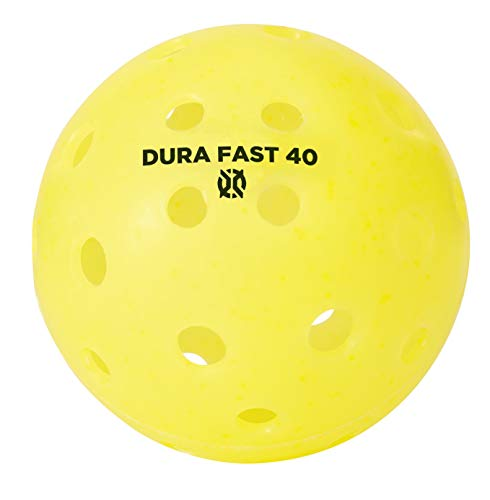 Dura Fast 40 Pickleballs | Outdoor pickleball balls | Yellow| Pack of 6 | USAPA Approved and Sanctioned for Tournament Play, Professional Perfomance