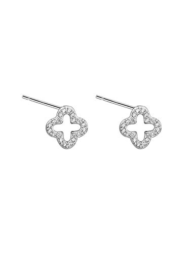 MEEOI Fashion Exageración Ear Ear Earrings Ear Hoop 925 de plata esterlina para mujer, pendientes cuadrados de color ciruela