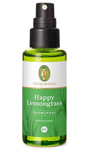 PRIMAVERA Raumspray Happy Lemongrass bio 50 ml - Lemongrass - Aromadiffuser, Aromatherapie - erfrischend - vegan