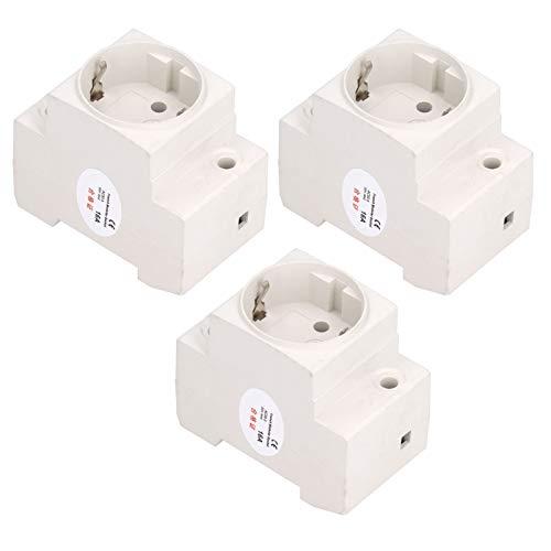 Adaptador De Riel De Toma De Corriente De 3 Uds, Conector Industrial, Conector Industrial, Enchufe De La UE AC250V 10-16A Con Estructura Estable
