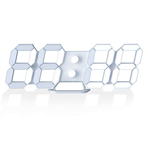 """Reloj de escritorio digital LED, relojes de pared de mesa Reloj despertador de escritorio ajustable de brillo de 9.7 """"para la sala de estar de la casa de la oficina (control remoto no incluido)"""