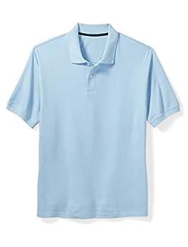 Amazon Essentials Men s Big & Tall Cotton Pique Polo Shirt fit by DXL Light Blue 3X