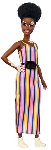 Barbie GHW51 - Fashionistas Puppe mit Vitiligo, trendige Moden und angesagte Accessoires, für Kinder ab 3 Jahren
