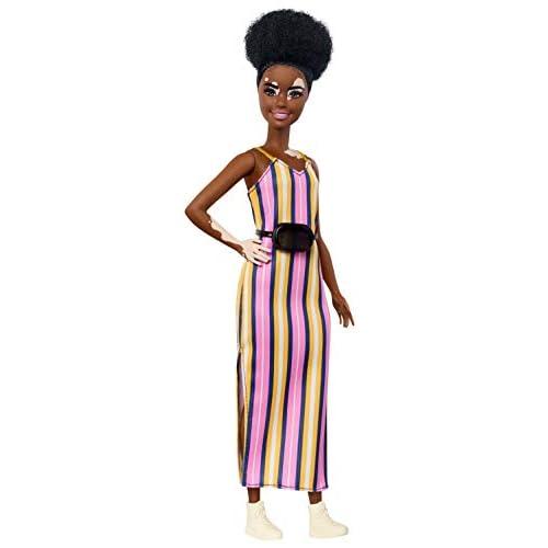 Barbie- Fashionistas Bambola con Vitiligine e Capelli Ricci Castani e Accessori, Giocattolo per Bambini 3+ Anni, GHW51