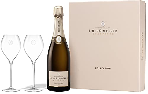Louis Roederer Champagner Collection 242 Genuss zu Zweit Geschenkset - Nachfolge Brut Premier Champagner Geschenk (1 x 0.75 l)