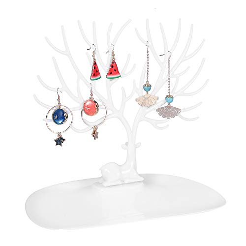 Da Dini Necklace Holder For Storing Jewelry, Antler Shape Jewelry Display Stand Dual Raw Hook Design Necklace Bracelet Display Rack, White