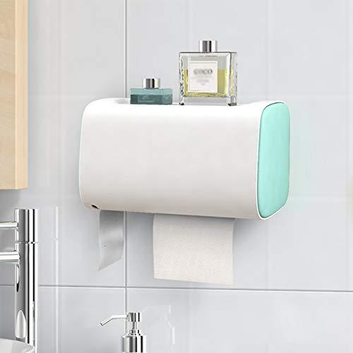 Soporte De Papel Higiénico Multifunción 4 Colores Caja De Tejido Punch Libre Instalación Accesorios De Baño Cocina Rollo Titular