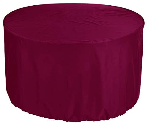 YULIAN kbKaufPirat Premium Tarpaulin Round Garden Table Cover Ø 180x70 cm Outdoor Daybed Cover Outdoor Furniture Cover Table and Chair Dust Cover Waterproof Round Patio Table Cover 600D Oxford Fab.