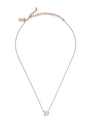 Kate Spade New York Lady Marmalade Mini Pendant Necklace Clear Rose Gold