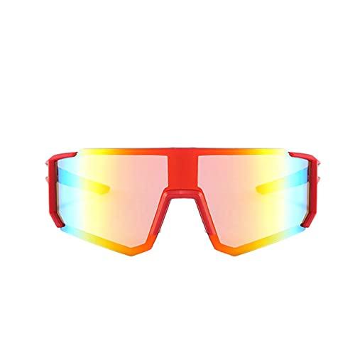 MIAOYO Deportes Gafas De Sol,Gran Gafas One Piece Marco Irrompible Conducción Tonos Ciclismo Gafas Al Aire Libre Gafas De Sol UV400,B