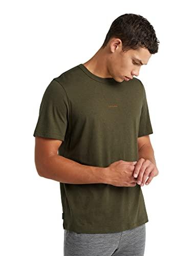 icebreaker Merino Herren Standard Central Short Sleeve Wool T Basic Casual Shirt Loden, Medium