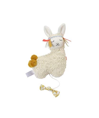 kikadu kleine Spieluhr Lama GOTS-zertifizierte Bio-Baumwolle