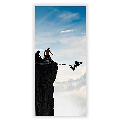 Banjado Wechselscheibe für IKEA GYLLEN Wandlampe | Glasscheibe für Wandleuchte 56x26cm | Echtglas Motiv Seilsprung | Hochformat