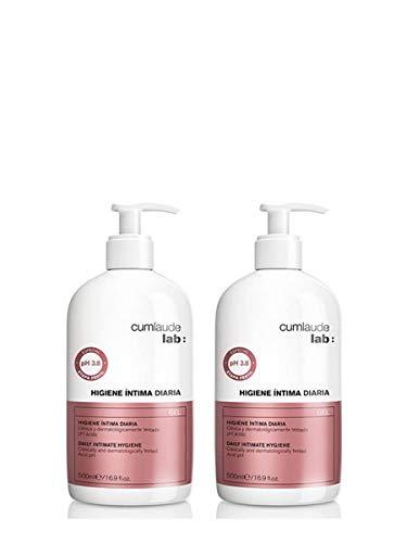 CUMLAUDE Lab Deligyn - Gel Limpiador de Higiene Íntima para Infancia y Menopausia - 2 Unidades x 500 ml