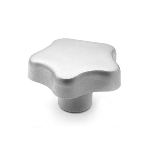 Ganter Normelemente | Edelstahl - Sterngriff - GN 5334-40-M8-E | matt gestrahlt | 1 Stück