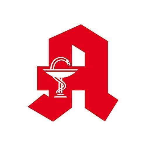 GreenIT 2 Aufkleber Tattoo A Symbol rot Apotheke Aeskulapstab Auto Tür Fenster Schaufenster Deko Folie (2 Stück 20cm)