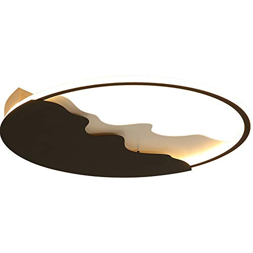 Chef Turk Luz De Techo LED Estudio De Minimalismo Contemporáneo Lámpara De Techo Personalidad Creativa Negro + Blanco Redondo Acrílico Metal Iluminación Interior Decorativa