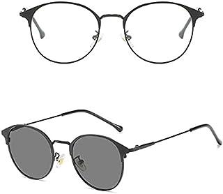 Women's Sunglasses - Anti Radiation And Photochromic Eye Glasses Women Eyeglasses Blue Light Blocking Glasses Round Transi...